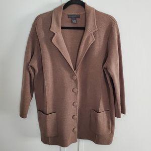 Grace Elements Woman Button Up Blazer Sweater